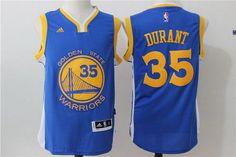 Men's Golden State Warriors Kevin Durant Royal Blue Revolution 30 Swingman #35 Player Adidas Road Jersey