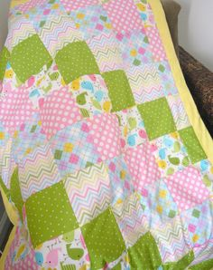 Patchwork Urban Zoologie Birds by zobabyblankies on Etsy.  LOVE THIS