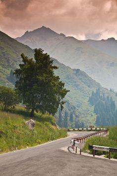 Road to Big Almaty Lake - Kazakhstan