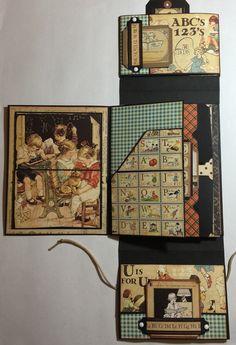 Mini Albums Scrap, Mini Scrapbook Albums, Baby Journal, Junk Journal, Decorative Storage, Diy Storage, Photo Folder, Handmade Scrapbook, Mini Scrapbooks