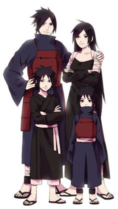 Madara's family fanart SO BEAUTIFUL The littlest one is sho cute