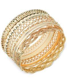 Guess Textured Bangle Bracelet Set -
