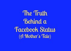"""Because every mom needs to share the """"real"""" story sometimes..."""
