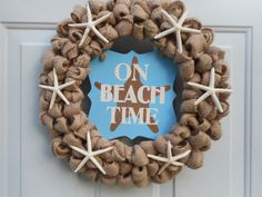 Beach wreath Seashore wreath Starfish wreath by ChloesCraftCloset