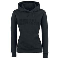 Black Is My Happy Colour Hooded sweater, Women black • Buy online • EMP £16.99