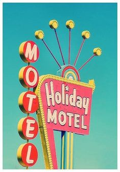 Holiday Motel on the Vegas Strip Love One Another Quotes, Post Mortem Photography, Guest Room Decor, Antique Vanity, Futuristic Furniture, Vintage Room, Old Signs, Coffee Signs, Pretty Pastel