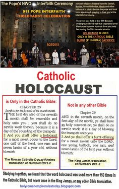 Holy Roman Empire Rules Today: POPE FRANCIS: JESUS DEATH ON THE CROSS WAS A FAILURE...INTERFAITH (NWO) HOLOCAUST 911 CELEBRATION...
