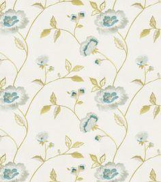 Eaton Square Print Fabric 51\u0022-Rhodes/Mist,