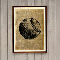 Baseball print Sports decor Vintage poster by wordantique on Etsy