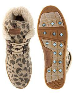 Image 3 ofTOMS Leopard Burlap Ankle Boots