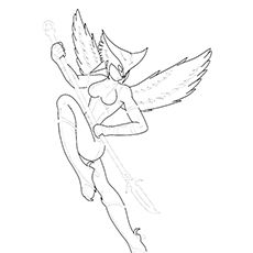 coloring pages of hawkgirl - photo#18