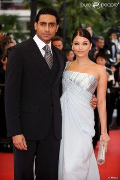Aishwarya Rai et Abhishek Bachchan lors du Festival de Cannes 2009