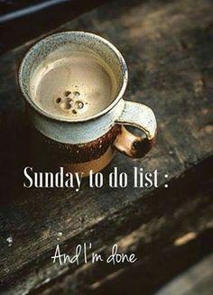 I like this list. #coffee #sundays #easy #relax #elephantjournal