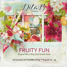 DitaB Designs:   SNEAK PEEKHi everyone, I´m here with August Snea... Adventure Of The Seas, Happy Summer, Summer Colors, Berries, Fun, Design, Summer Colours, Bury