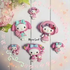 """106 Likes, 6 Comments - Veronica XuClay Resin Art (@marieland.id) on Instagram: """"My Melody with her dresses Material : Polymer Clay Size : 3cm and 5cm . . . #melody #mymelody…"""""""
