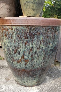 Rustic Urns are from one of the last remaining Rustic Pottery Manufacturers and are very rare. Each piece is handcrafted and one of a kind.