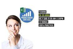 Este fin de semana curso de Excel en Tijuana  Más detalles en http://tjev.mx/1UdoAe2  #Eventos #talleres