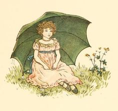 Kate Greenaway 1910 from The Marigold Garden - The Little London Girl