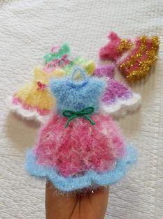 ♡백년초님의 '봄의 왈츠' 원피스 수세미♡(도안링크) : 네이버 블로그 Crochet Home, Crochet Baby, Crochet Bouquet, Holiday Crafts, Baby Dress, Diy And Crafts, Crochet Patterns, Knitting, Projects