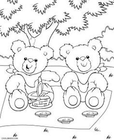 Teddy Bear Picnic Coloring Pages More Information