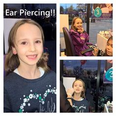 My little lady felt suddenly brave today and had her ears pierced  #beautifulgirl