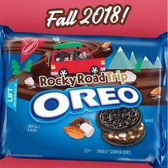 Coming Soon: Rocky Road Trip Oreo Weird Oreo Flavors, Cookie Flavors, Funny Food Memes, Food Humor, Fun Cookies, Oreo Cookies, Snack Recipes, Dessert Recipes, Snacks