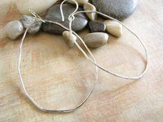 Organic Freeform Sterling Silver Hoops Extra by MossyCreekStudio, $32.00