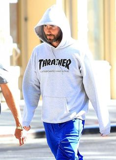 f2cb7053d0a1 Adam Levine wearing Thrasher Skate Mag Hoodie in Black and Nike Air Max  Ld-Zero Htm