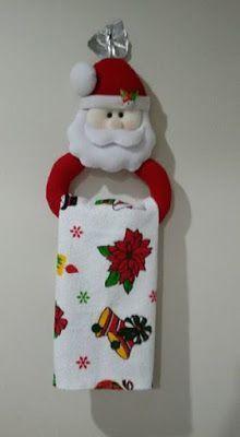 Sujeta cortinas navideño y porta toallas para la cocina ~ lodijoella