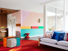 Design age: Dulux reveals its 2016 Colour Trends:**Retro Remix**: This palette inspires colour experimentation. Acid brights such as orange clash with faded, muddied colours such reddish browns, olive greens, mustard and ochre creating. Dwell On Design, Modern Design, Color Trends, Design Trends, Design Ideas, Style Deco, Blog Deco, Deco Design, Bold Colors