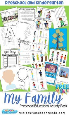 My Family Free Printable Preschool Activity Pack