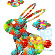 A psychedelic Easter bunny by Idea Go - download for free or purchase in high resolution from FreeDigitalPhotos.net