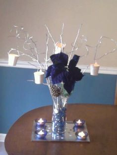 Found on Weddingbee.com Share your inspiration today! Instead of candles, hang little crystals.