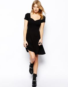 black skater dress - Google Search
