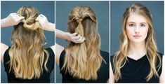 10 Easy Hairstyles You Can Do in 10 Seconds – DIY Hairstyles - Hair Styles Easy Hairstyles For School, Fast Hairstyles, Simple Hairstyles, Wedding Hairstyles, Easy Every Day Hairstyles, Easy Party Hairstyles, Toddler Hairstyles, Daily Hairstyles, Chic Hairstyles