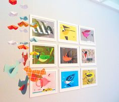 """Edie's Charley Harper """"Birds & Words"""" Nursery My Room (but doesn't have to be in a nursery)"""