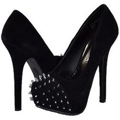 Society86 Black Studded Pumps
