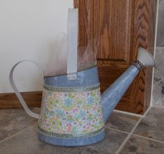 Decoupaged watering can! Only $25.00 https://www.etsy.com/listing/192742391/gorgeous-decoupaged-watering-can?ref=shop_home_active_3