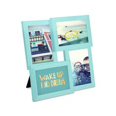 Amazon.com - Umbra Pane Four-Opening Collage Picture Frame, Surf Blue -