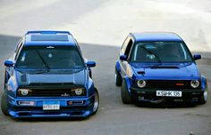 Rieger wide body kit on mk2 vw gti