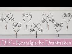 DIY- Nostalgische Haken aus Draht/Luffarslöjd/Schwedische Drahtbiegekunst - YouTube