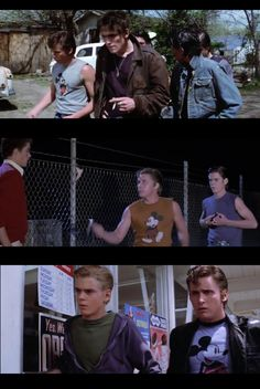"Did you know in the movie ""The Outsiders"" the character, Two-Bit Matthews (played by Emilio Estevez), only wears Mickey t-shirts! Here are the three shirts he wore with a different Mickey."