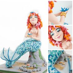 Myrtle the Mermaid Cake by Rhu Strand........For more info, Please visit: https://cakerschool.com/