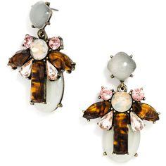 BaubleBar Bliss Drops ($34) via Polyvore featuring jewelry, earrings, baublebar jewelry, tortoise shell jewelry, pink jewelry, tortoiseshell jewelry and pink earrings