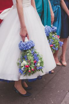 Turquoise and white are so stunning!! Blue Pink Green Bouquet Quirky London City Wedding www.jordannamarston.com/