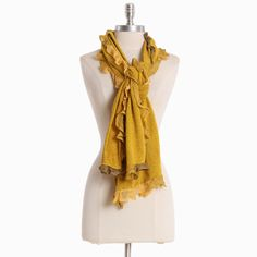 yummy mustard scarf.  $18.99.... its hard to know if the weather will be cool enough on Oct 14th to wear this!