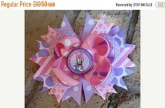 SALE Daisy Duck Disney inspired Custom Stacked by AddisonsBowtique
