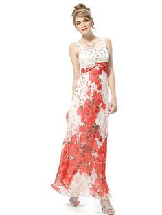 Shining Rhinestone Floral Printed Evening Dresses - Ever-Pretty US #summer #maxi