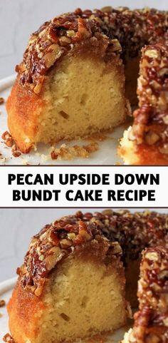 Pecan Recipes, Cake Mix Recipes, Pound Cake Recipes, Sweet Recipes, Baking Recipes, Dessert Recipes, Pecan Pie Bundt Cake Recipe, Pecan Cake, Cake With Pecans Recipe