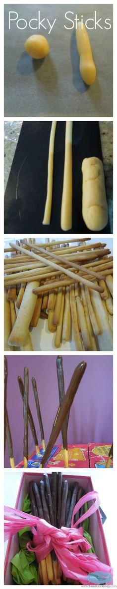 The famous Japanese Pocky Sticks also called Mikado in France A steps by steps recipe by www.sweetashoney.co